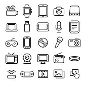 Multimedia Icons - Smart Line Series
