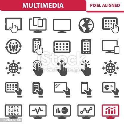 istock Multimedia Icons 1030907206