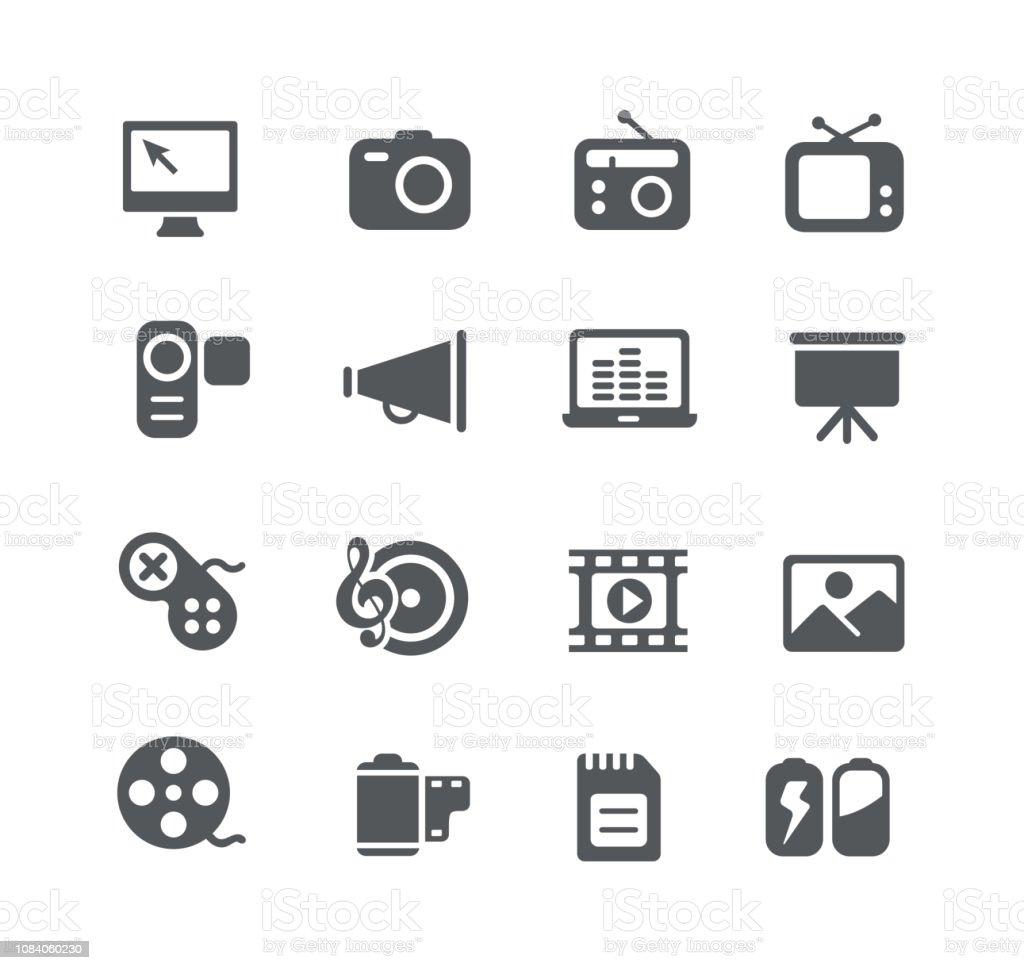 Multimedia Icons - clipart vectoriel de Affaires libre de droits