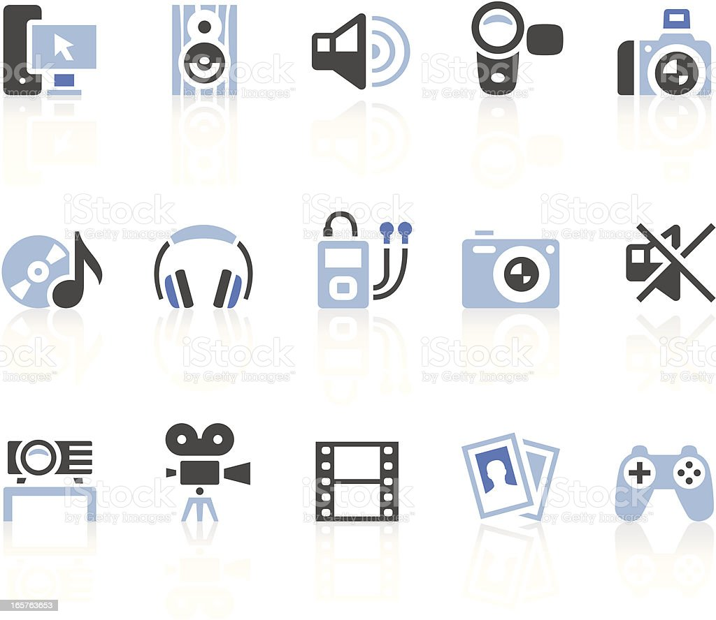 Multimedia icons royalty-free multimedia icons stock vector art & more images of audio equipment