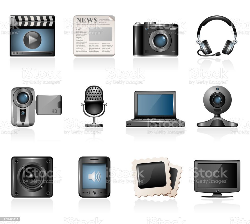 Multimedia Icons royalty-free multimedia icons stock vector art & more images of digital camera
