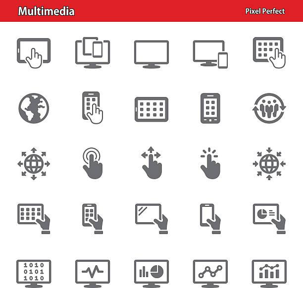 Icônes multimédia - Illustration vectorielle
