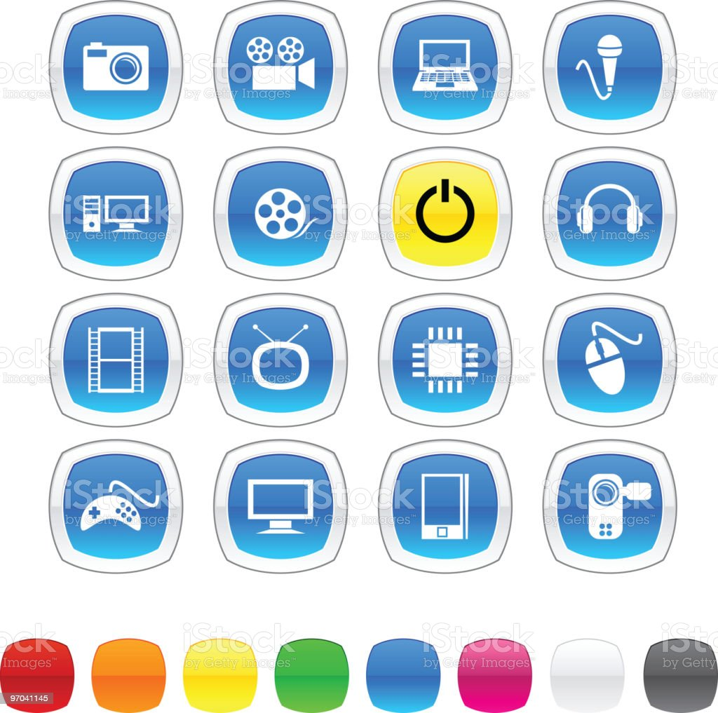 Multimedia icons. royalty-free stock vector art