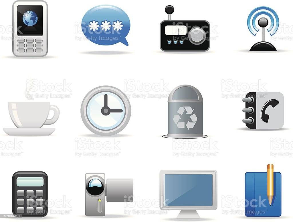 Multimedia icons royalty-free stock vector art