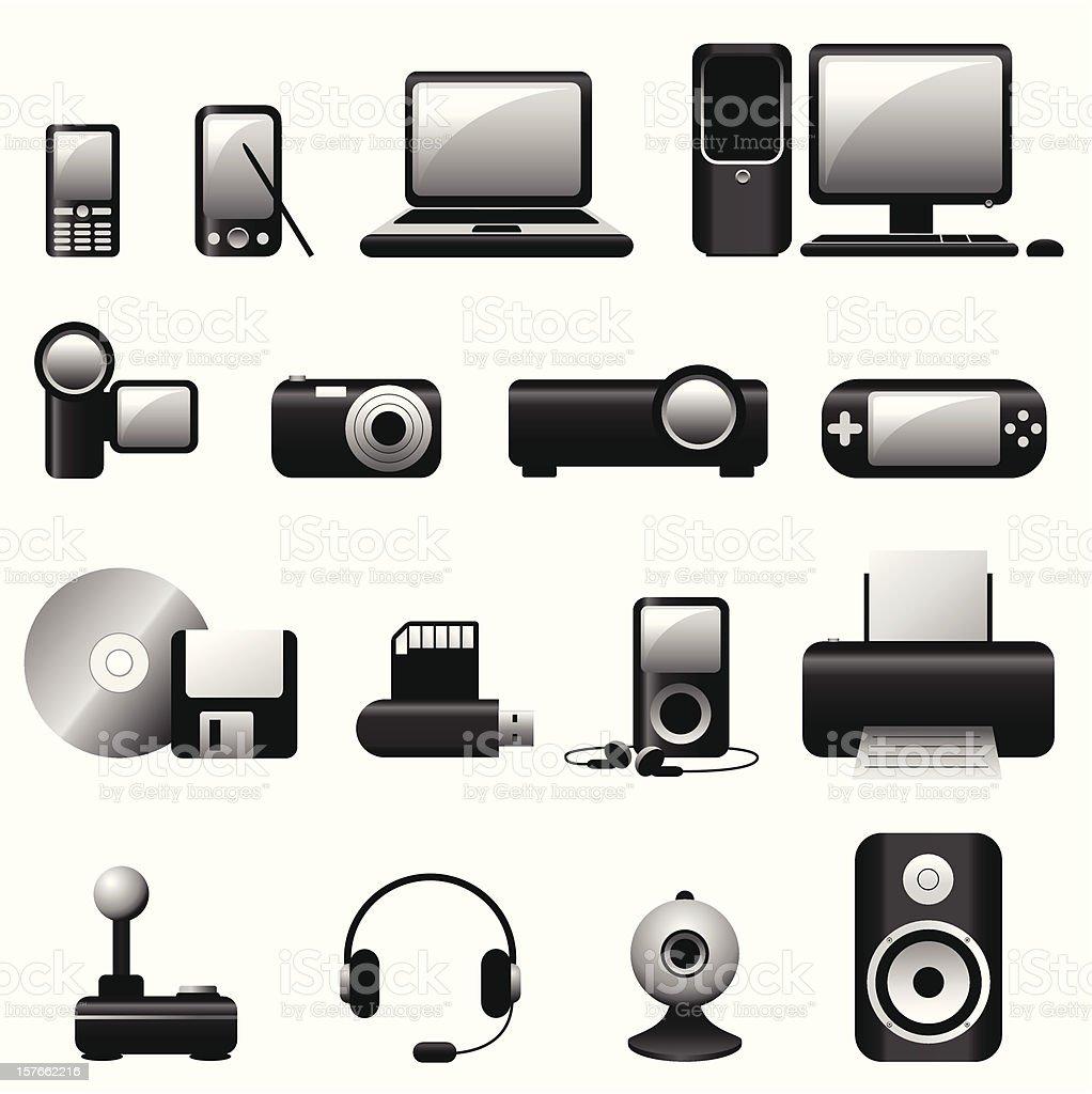 Multimedia Icons - Vector royalty-free stock vector art