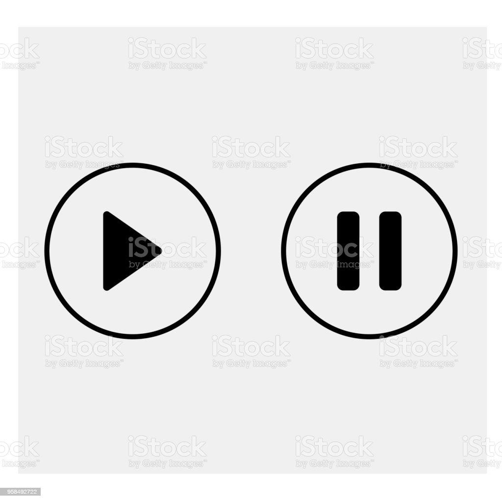 Claviers multimédias. Commandes multimédia. Illustration vectorielle. - Illustration vectorielle
