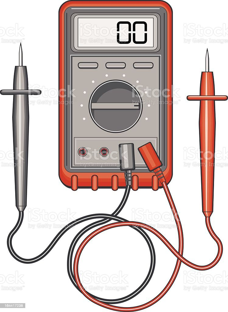 Multimeter royalty-free multimeter stock vector art & more images of amperage