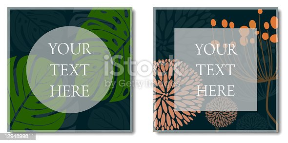 istock multi-page botanical and floral layout template 1294899811