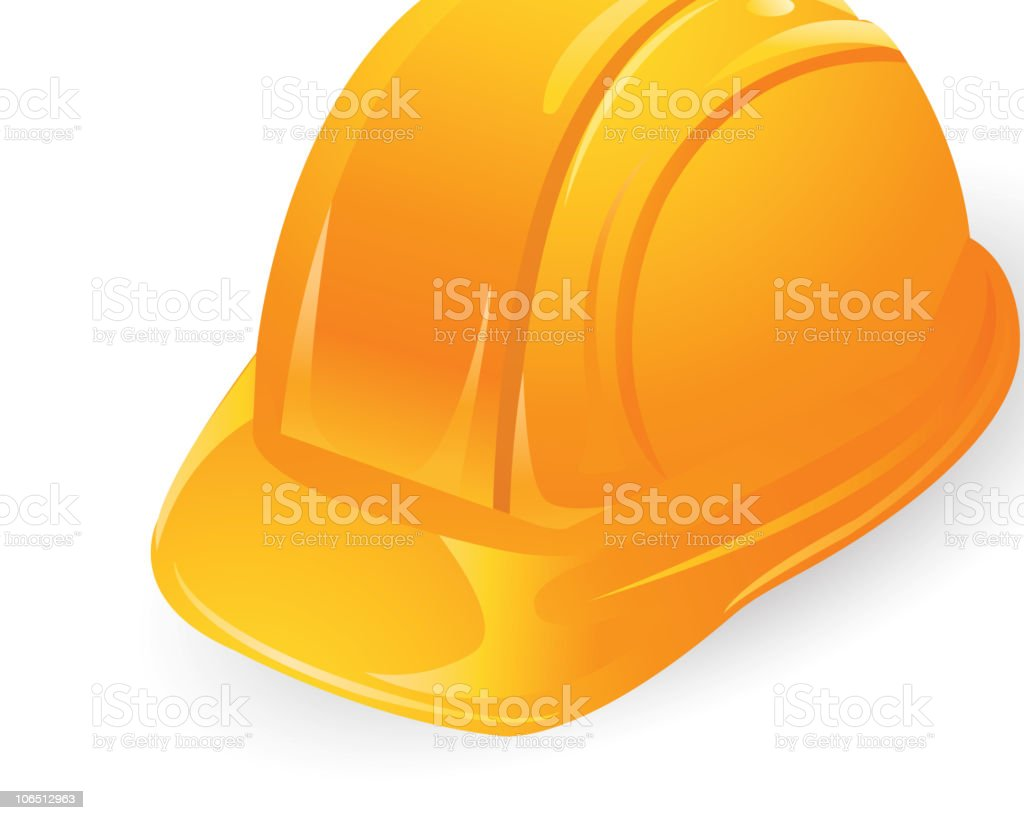 Multiple assortment of colors for construction helmets vector art illustration