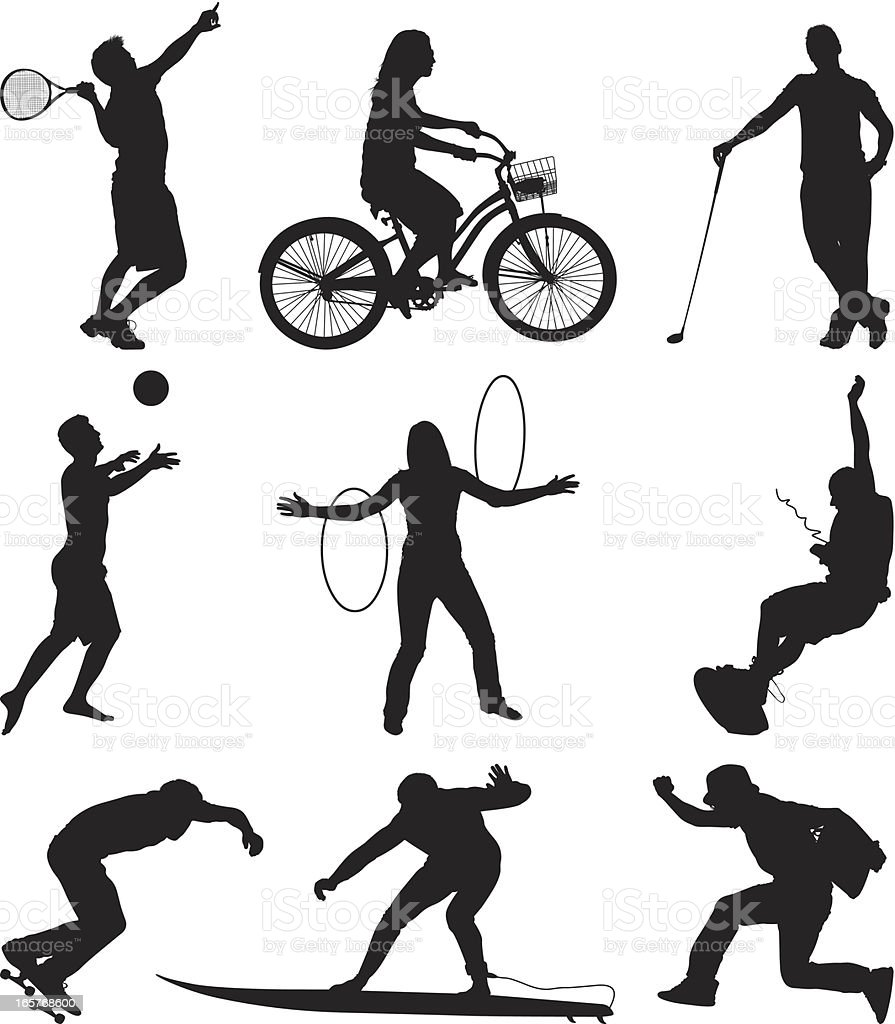 Multiple athletes doing different sports royalty-free multiple athletes doing different sports stock vector art & more images of activity