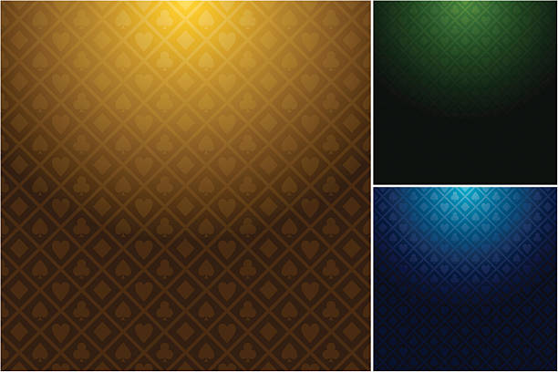 Multiple casino backgrounds in three different colors Set of casino backgrounds (different colour variations) gambling chip stock illustrations