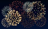 Illustration of fireworks, EPS 10 contains transparency