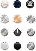 Multiple colors and styles of volume knobs
