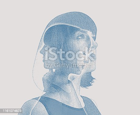 Multiple exposure of woman recovering from mental illness