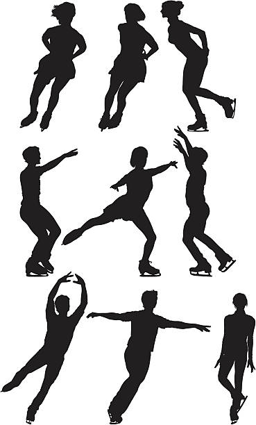Multiple image of men and woman ice skating Multiple image of men and woman ice skatinghttp://www.twodozendesign.info/i/1.png figure skating stock illustrations