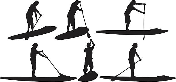 Best Stand Up Paddle Board Illustrations, Royalty-Free