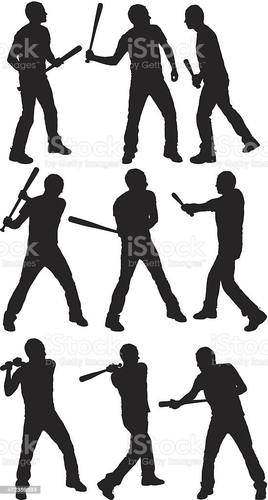 Multiple images of a baseball player royalty-free multiple images of a baseball player stock vector art & more images of activity