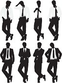istock Multiple images of a businessman in different poses 165924840