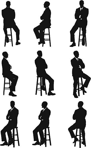 stockillustraties, clipart, cartoons en iconen met multiple images of a businessman - overhemd en stropdas