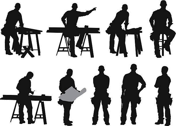 複数のイメージを、大工 - 大工点のイラスト素材/クリップアート素材/マンガ素材/アイコン素材