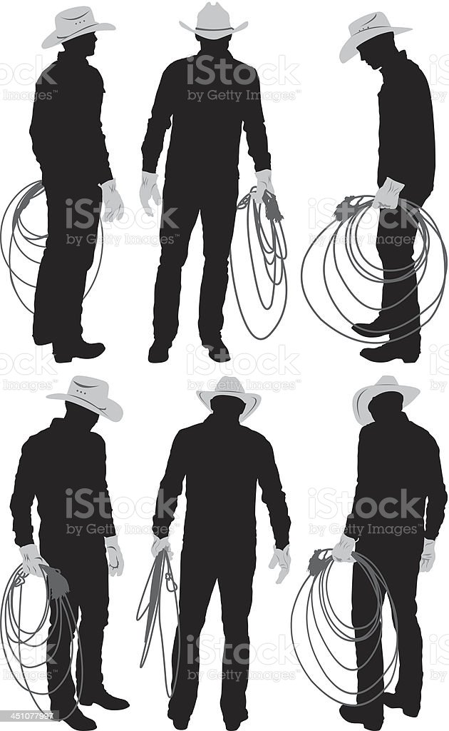 Multiple images of a cowboy with lasso royalty-free multiple images of a cowboy with lasso stock vector art & more images of adult