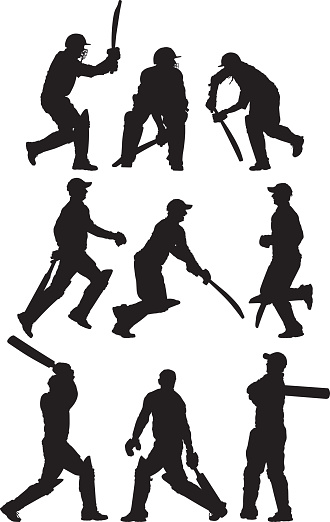 Multiple images of a cricket player