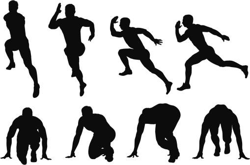 Multiple images of a male runner