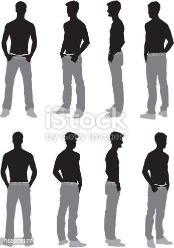 mehrere bilder von einem mann posieren stock vektor art und mehr bilder von clipart 165928177. Black Bedroom Furniture Sets. Home Design Ideas