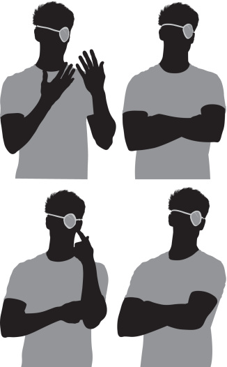 Multiple images of a man with eye patch