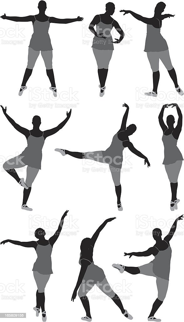 Multiple images of a woman dancing royalty-free multiple images of a woman dancing stock vector art & more images of acrobat