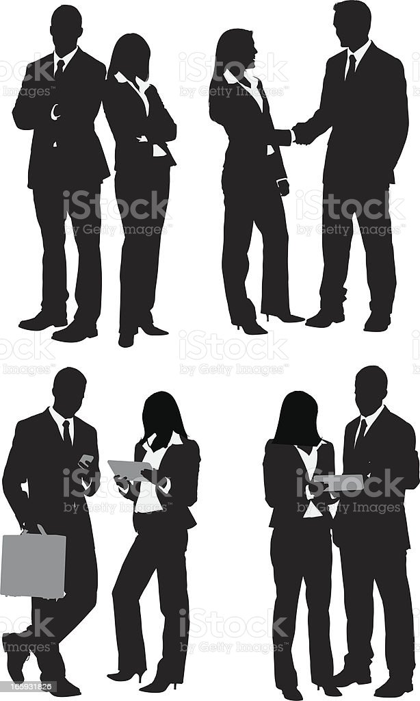 Varias imágenes de personas de negocios - ilustración de arte vectorial