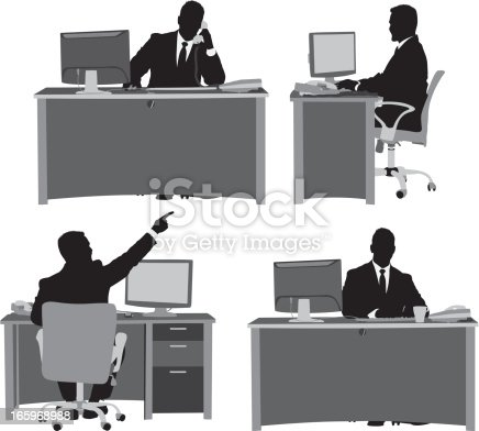 Multiple images of businessman at his deskhttp://www.twodozendesign.info/i/1.png