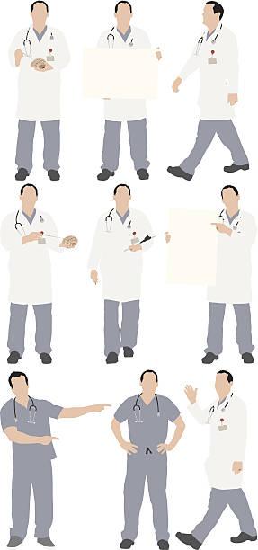 Multiple images of doctor Multiple images of doctorhttp://www.twodozendesign.info/i/1.png male nurse stock illustrations