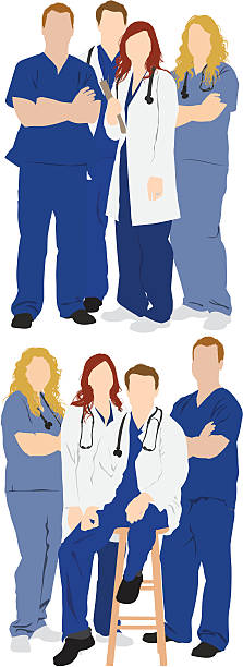 Multiple images of medical professionals Multiple images of medical professionalshttp://www.twodozendesign.info/i/1.png male nurse stock illustrations
