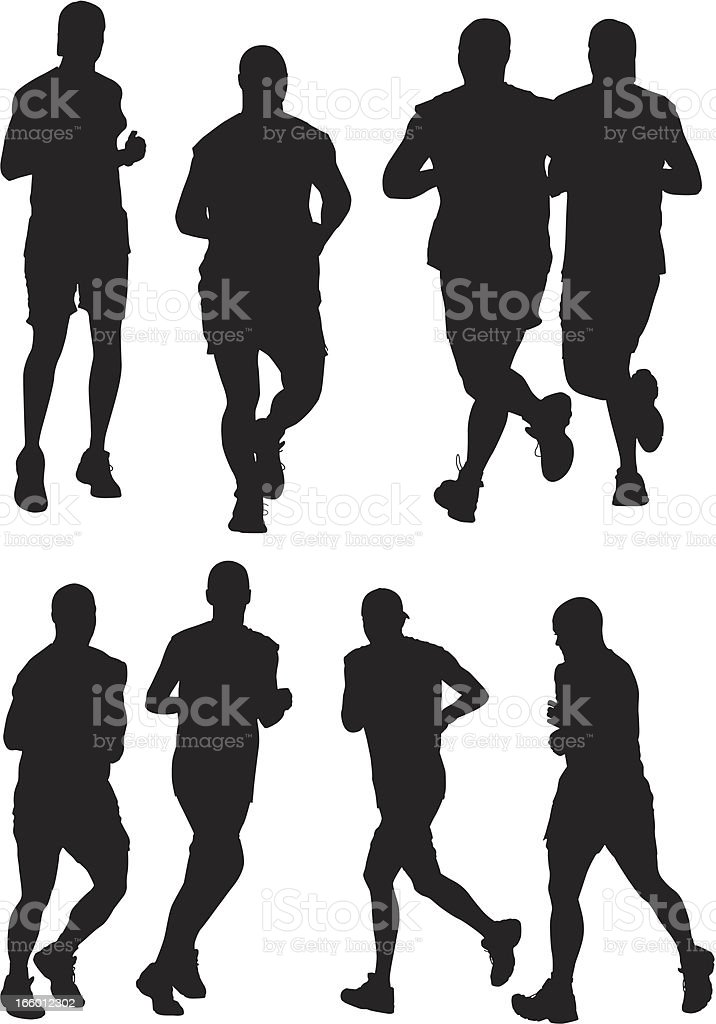 Multiple images of people jogging royalty-free multiple images of people jogging stock vector art & more images of activity