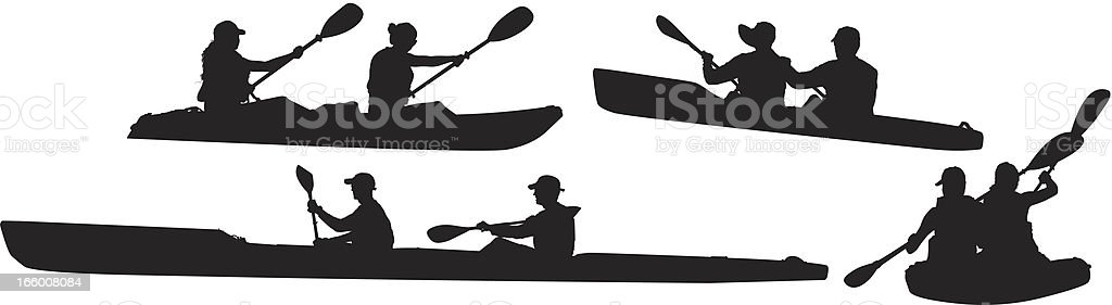 Multiple images of people kayaking royalty-free multiple images of people kayaking stock vector art & more images of activity
