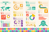 Multiple infographic templates related to travel/holidays