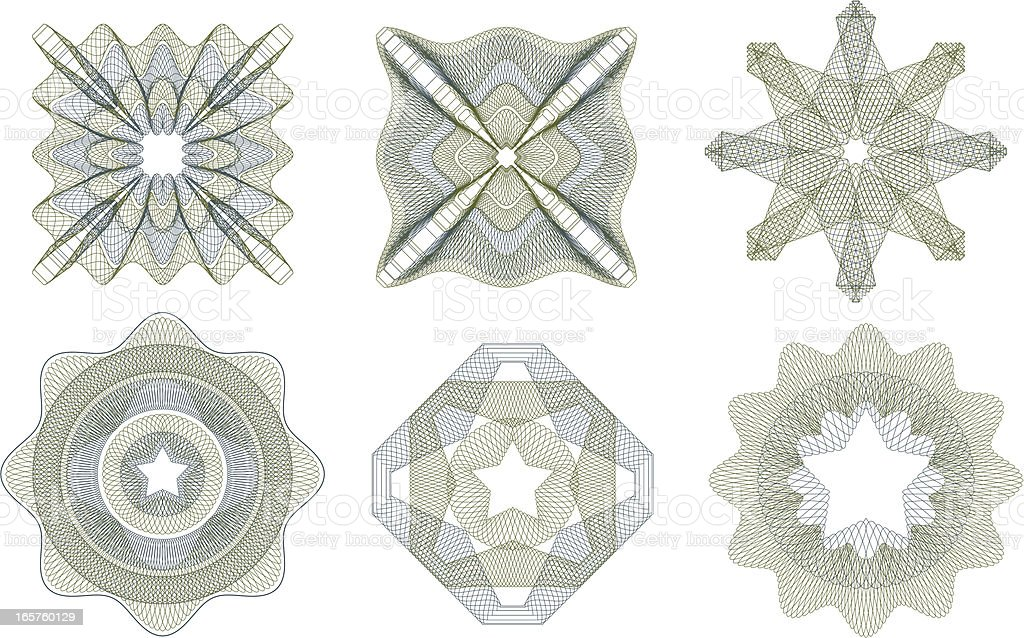 Multiple Money Patterns vector art illustration