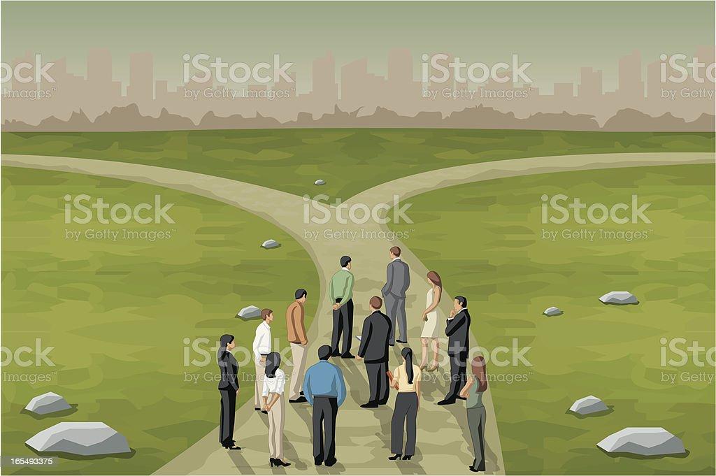 Multiple options. vector art illustration