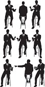 Multiple silhouette of businessman sitting on stoolhttp://www.twodozendesign.info/i/1.png