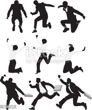 Multiple silhouette of businesspeople running and jumpinghttp://www.twodozendesign.info/i/1.png