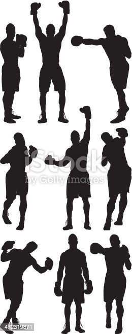 Multiple silhouettes of boxerhttp://www.twodozendesign.info/i/1.png