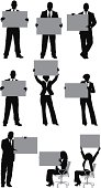 Multiple silhouettes of business people with placardhttp://www.twodozendesign.info/i/1.png