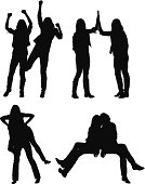 Multiple silhouettes of female friends posinghttp://www.twodozendesign.info/i/1.png
