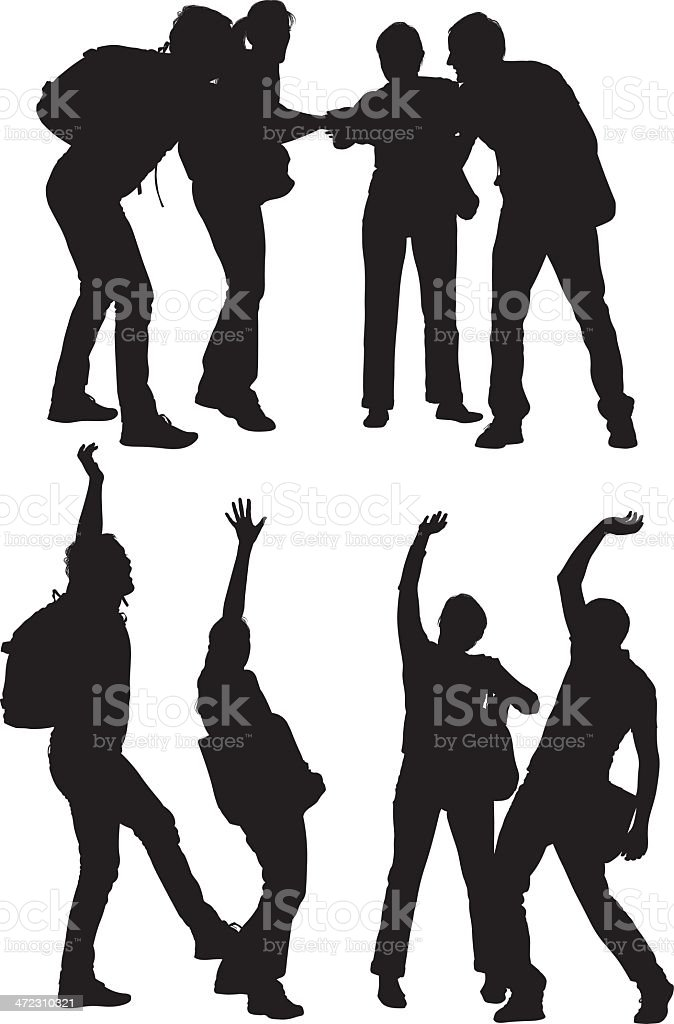 Multiple vector of friends royalty-free stock vector art