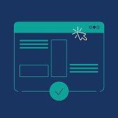 istock Multiple webpage line icon 1168791987
