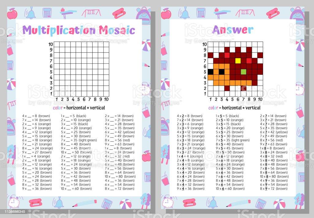 Multiplication Mosaique Mathematiques Puzzle Feuille De Calcul Jeu Educatif Coloriage Livre Page Jeu Mathematique Pixel Art Illustration Vectorielle Vecteurs Libres De Droits Et Plus D Images Vectorielles De Activite Avec Mouvement Istock