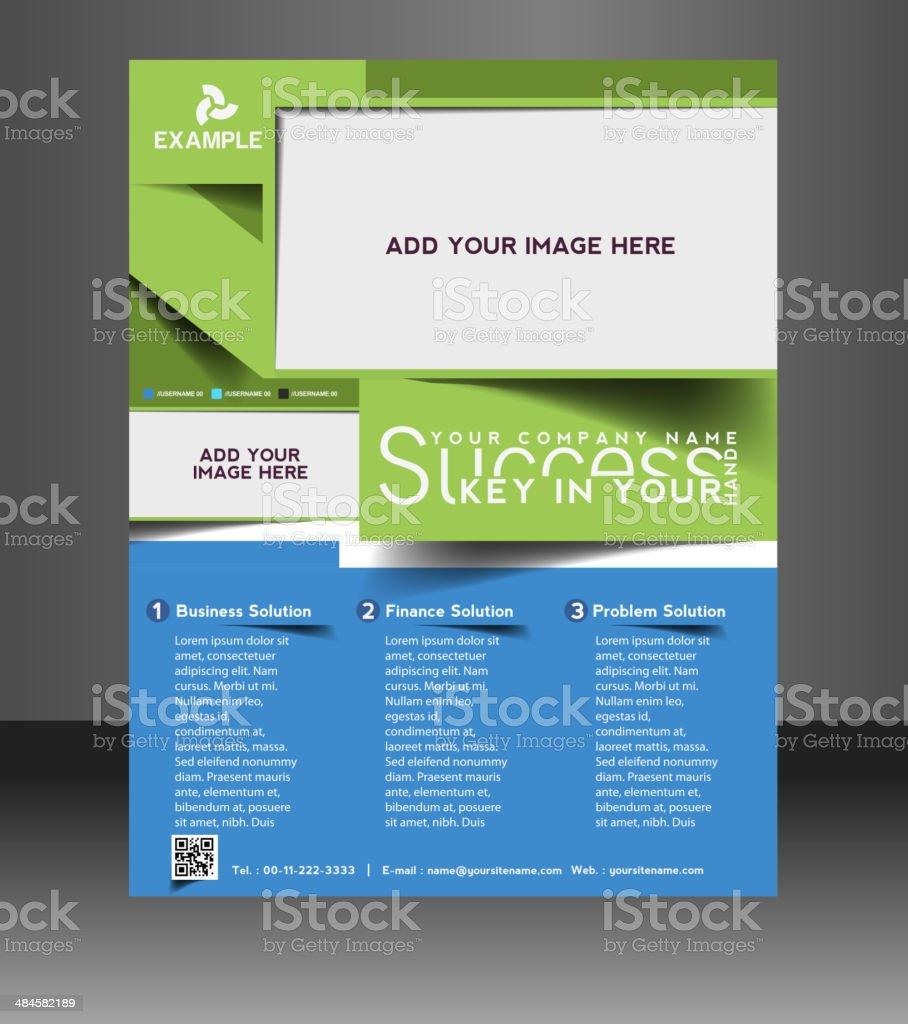 Multipurpose Business Flyer vector art illustration