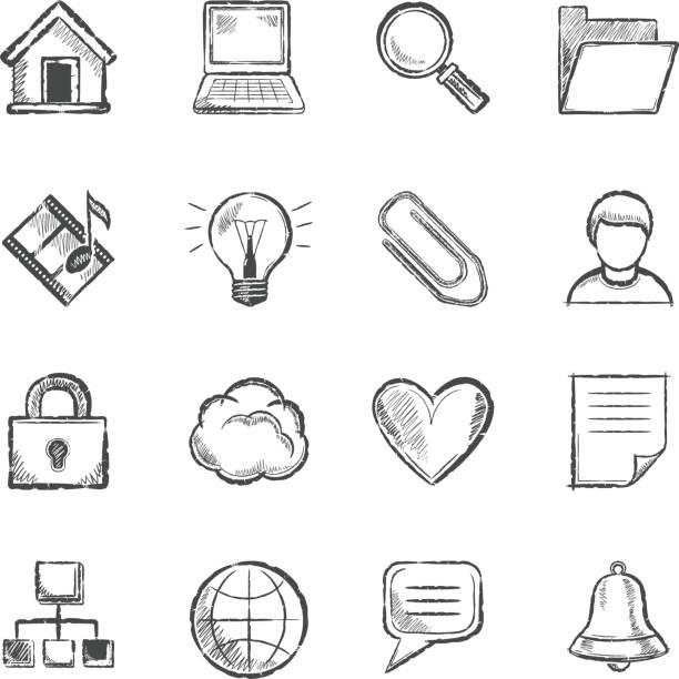 Mehrzweck-Symbole – Vektorgrafik