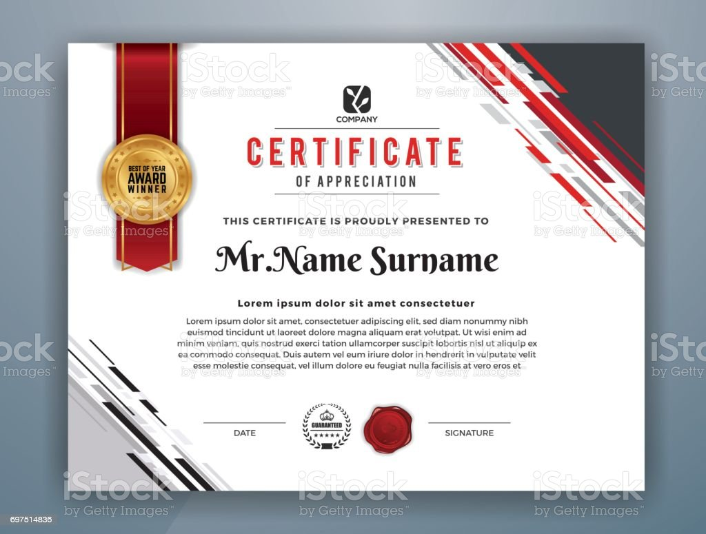 Multifunktionale Moderne Professionelle Zertifikatvorlage Stock ...